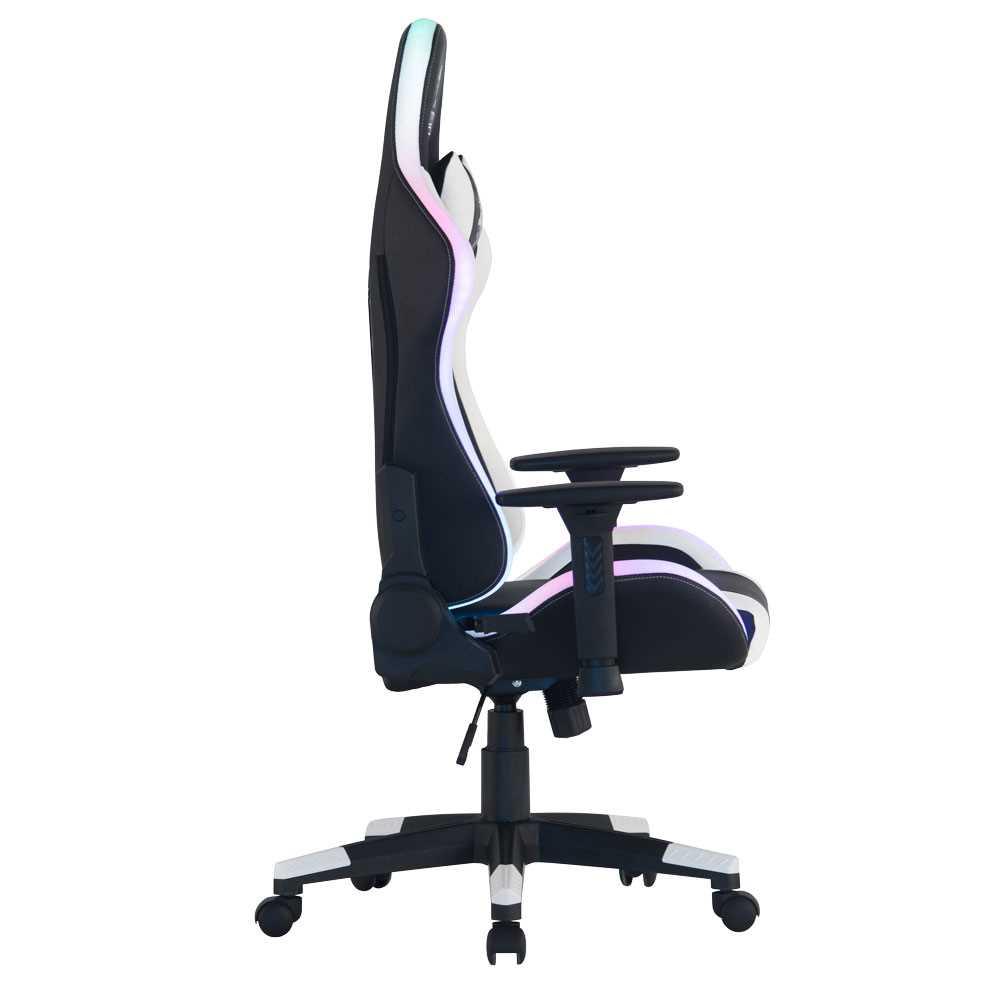 כיסא גיימינג Dragon Space Gaming Chair עם תאורה RGB - צבע לבן - תמונה 2
