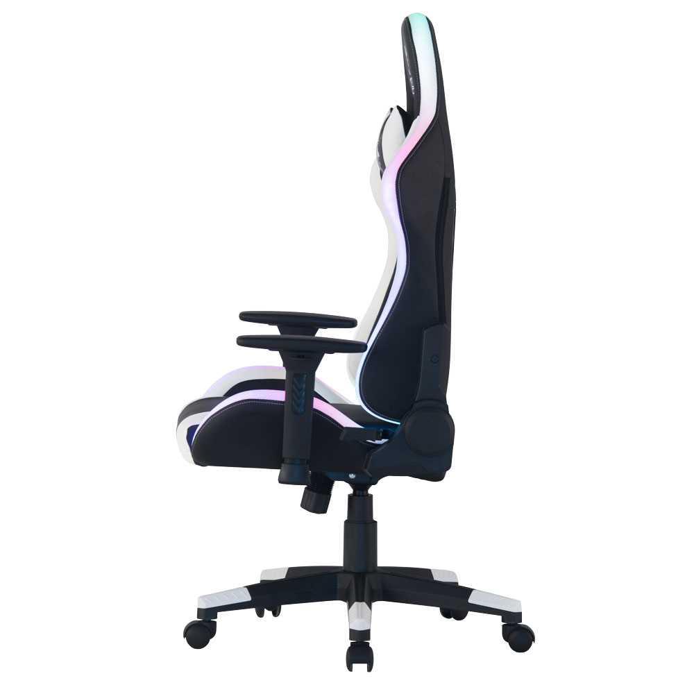 כיסא גיימינג Dragon Space Gaming Chair עם תאורה RGB - צבע לבן - תמונה 3