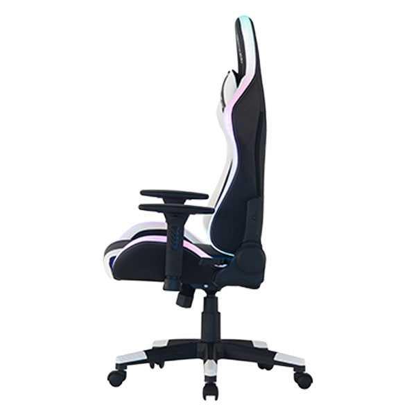 כיסא גיימינג Dragon Space Gaming Chair עם תאורה RGB - צבע לבן - תמונה 4