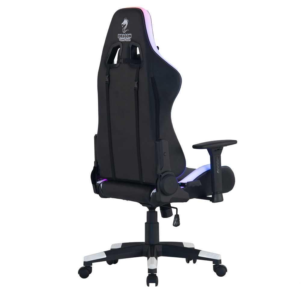 כיסא גיימינג Dragon Space Gaming Chair עם תאורה RGB - צבע לבן - תמונה 5