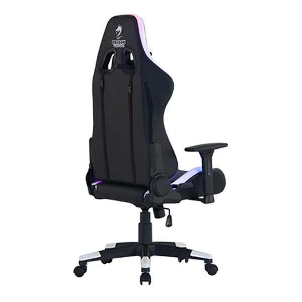 כיסא גיימינג Dragon Space Gaming Chair עם תאורה RGB - צבע לבן - תמונה 9