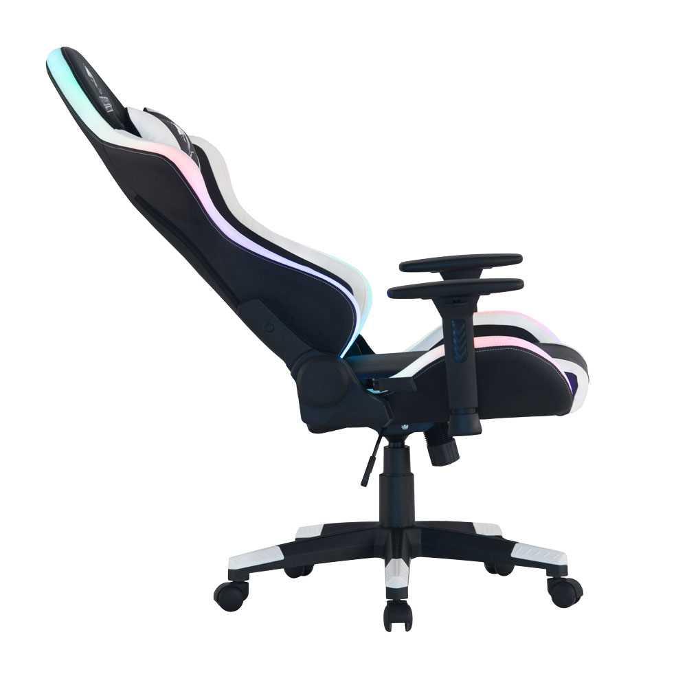 כיסא גיימינג Dragon Space Gaming Chair עם תאורה RGB - צבע לבן - תמונה 6