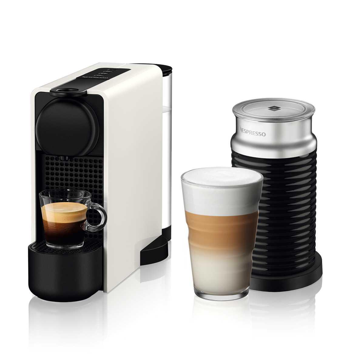 מכונת קפה NESPRESSO Essenza Plus C45 עם מקציף חלב - צבע לבן - תמונה 1