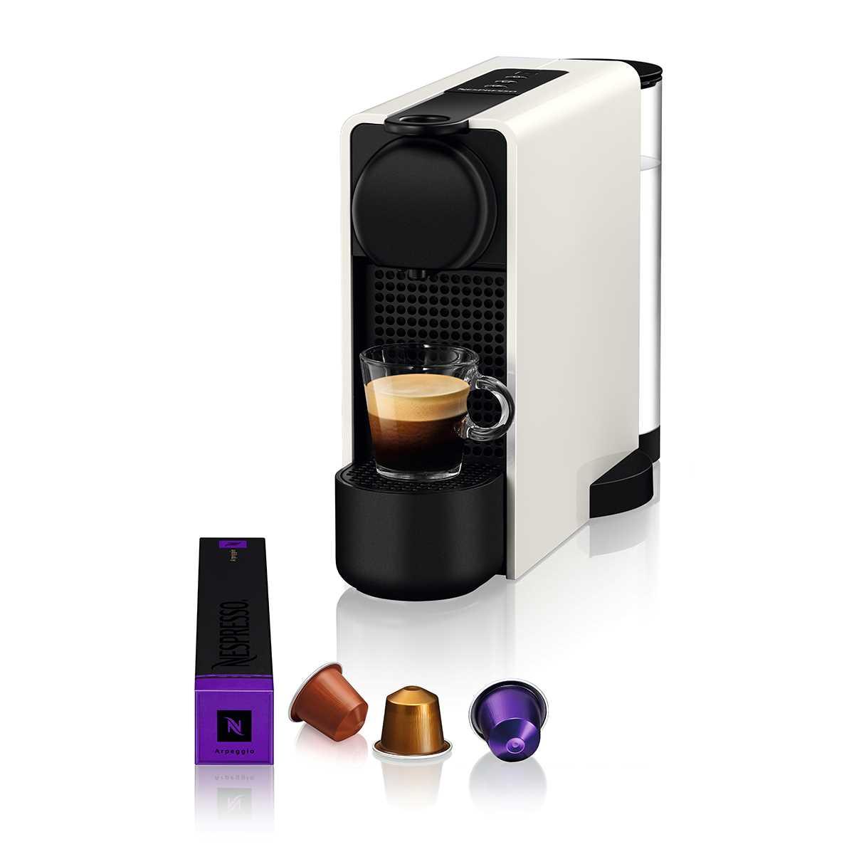 מכונת קפה NESPRESSO Essenza Plus C45 עם מקציף חלב - צבע לבן - תמונה 2