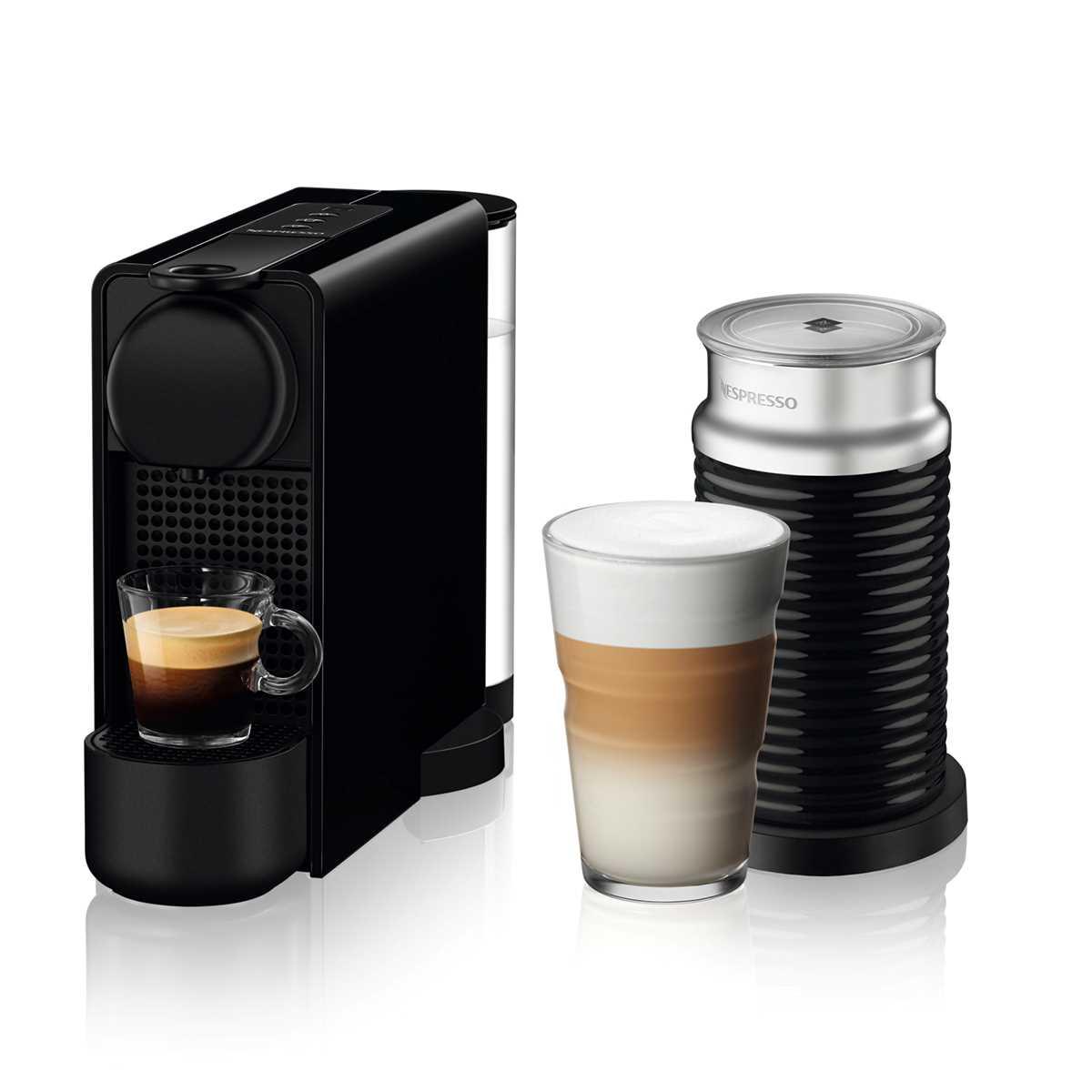מכונת קפה NESPRESSO Essenza Plus C45 עם מקציף חלב - צבע שחור - תמונה 1