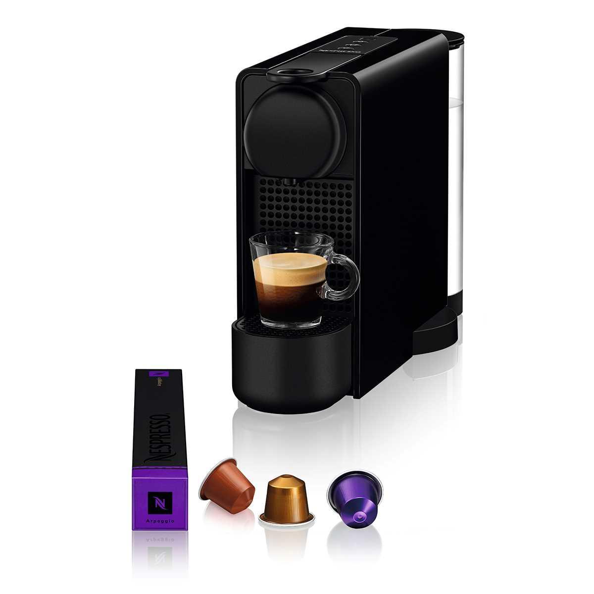 מכונת קפה NESPRESSO Essenza Plus C45 עם מקציף חלב - צבע שחור - תמונה 2