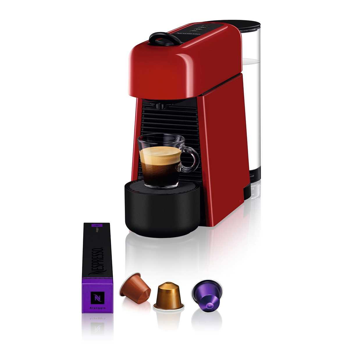 מכונת אספרסו Nespresso Essenza D45 Plus נספרסו כולל מקצף חלב - צבע אדום - תמונה 2