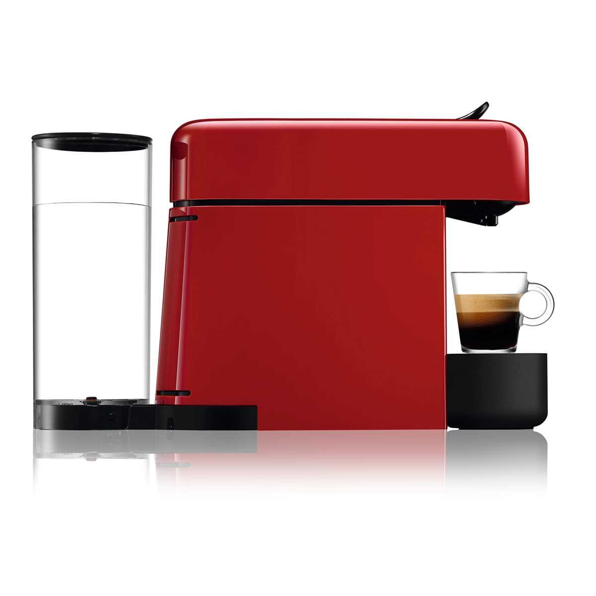 מכונת אספרסו Nespresso Essenza D45 Plus נספרסו כולל מקצף חלב - צבע אדום - תמונה 4