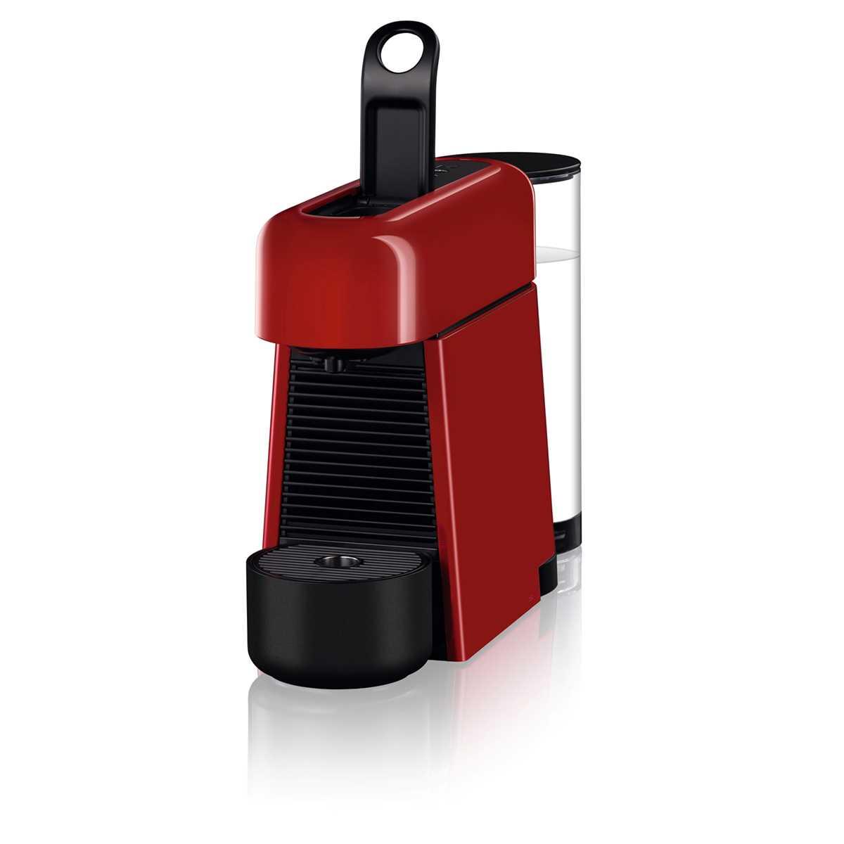 מכונת אספרסו Nespresso Essenza D45 Plus נספרסו כולל מקצף חלב - צבע אדום - תמונה 5