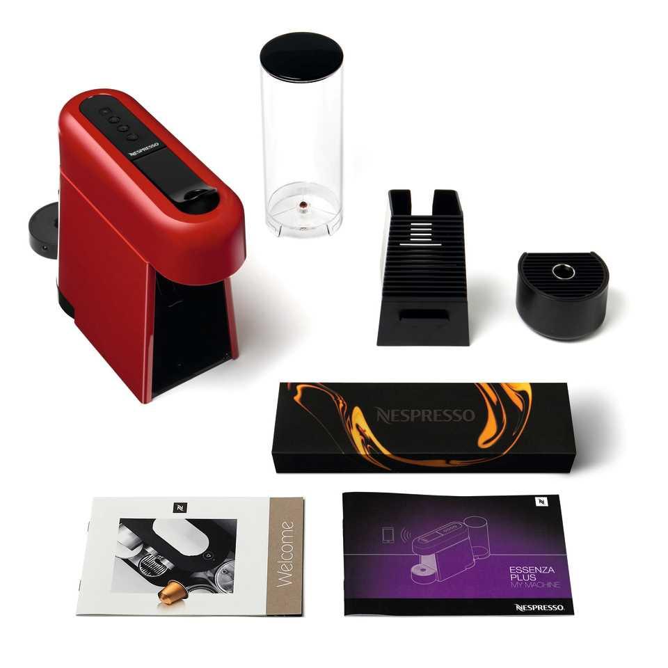 מכונת אספרסו Nespresso Essenza D45 Plus נספרסו כולל מקצף חלב - צבע אדום - תמונה 7
