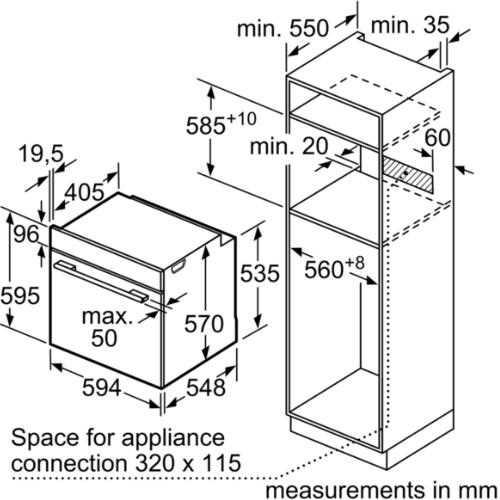 תנור בנוי HB513ABR1 Siemens סימנס - תמונה 5