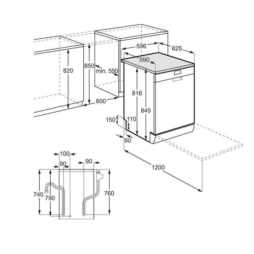 מדיח כלים רחב AEG FFB52910ZM - תמונה 2