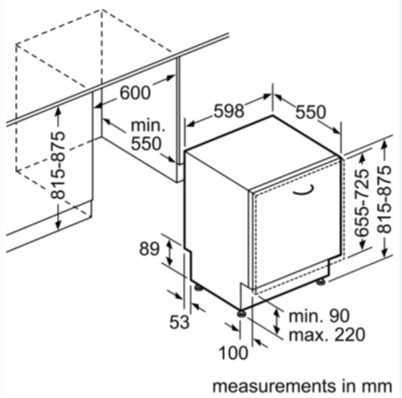 מדיח כלים אינטגרלי Bosch SMV25DX02E בוש - תמונה 4