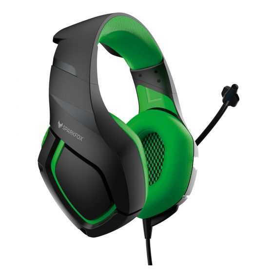 אוזניות גיימינג SPARKFOX K1 ירוק - תמונה 1