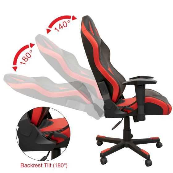 מושב גיימינג SPARKFOX בטקסטורת מעויינים אדום - תמונה 5
