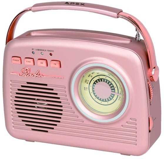 רמקול נייד משולב רדיו בעיצוב רטרו יפיפה APEX AP-1230 - תמונה 2