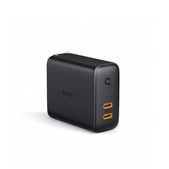 מטען מהיר AUKEY USB-C PD x 2 36W - תמונה 3