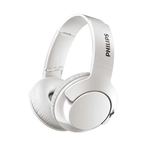 אוזניות Philips BASS+ SHB3175WT Bluetooth פיליפס לבן - תמונה 1