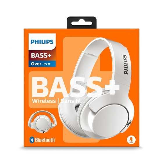 אוזניות Philips BASS+ SHB3175WT Bluetooth פיליפס לבן - תמונה 6