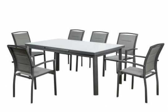 שולחן מתארך עם 6 כסאות דגם Florida תוצרת Australia Chef - תמונה 1