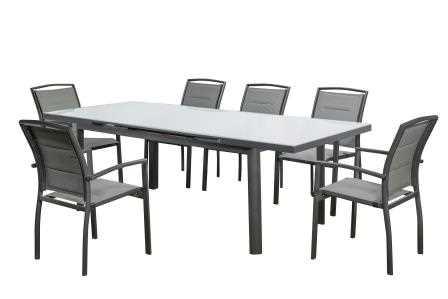 שולחן מתארך עם 6 כסאות דגם Florida תוצרת Australia Chef - תמונה 2