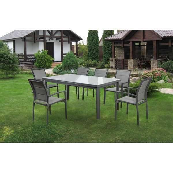 שולחן מתארך עם 6 כסאות דגם Florida תוצרת Australia Chef - תמונה 3