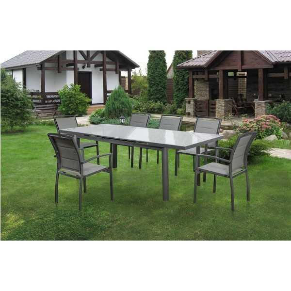 שולחן מתארך עם 6 כסאות דגם Florida תוצרת Australia Chef - תמונה 4