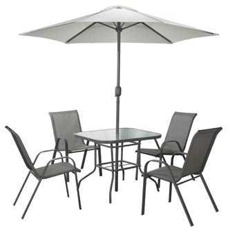 שולחן עם 4 כסאות ושמשיה לגינה Tuscany תוצרת Australia Camp - תמונה 2