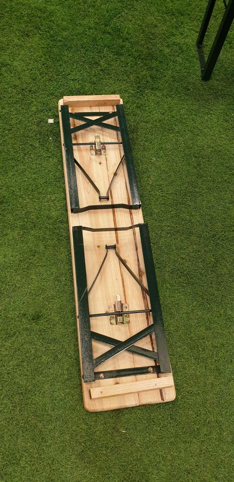 סט מתקפל שולחן עץ/מתכת + 4 ספסלים דגם 498911 - תמונה 4