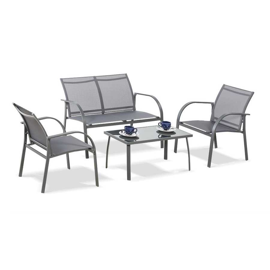 מערכת ישיבה קאפלו 2+1+1+שולחן Cappello תוצרת Australia Garden - תמונה 3