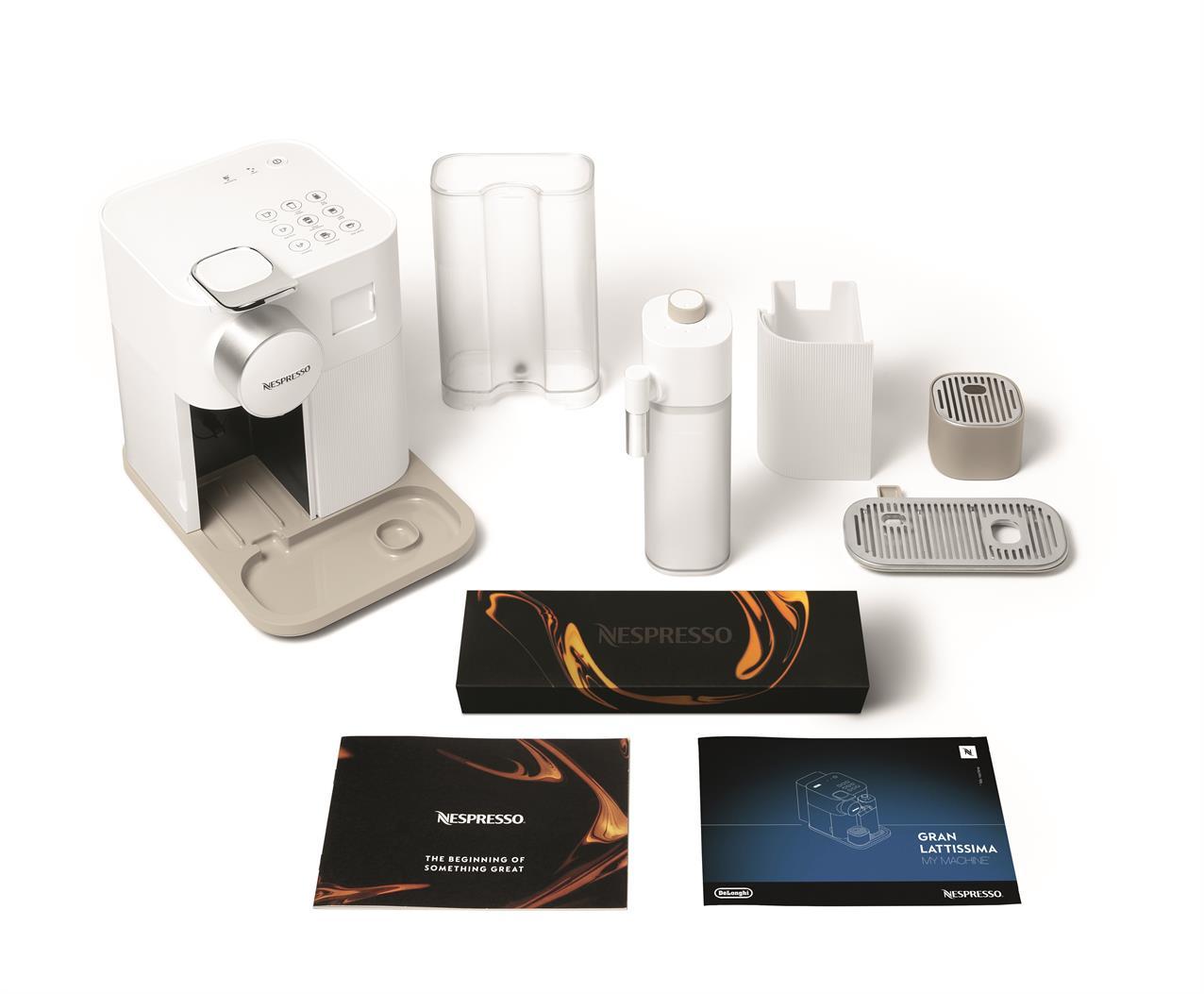 מכונת קפה NESPRESSO גראן לטיסימה בגוון לבן דגם F531 - תמונה 6