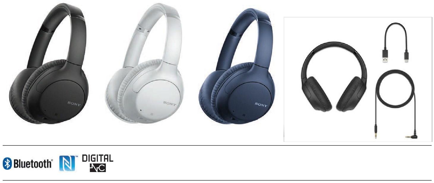 אוזניות Sony WH-CH710NL Bluetooth סוני כחולות - תמונה 6