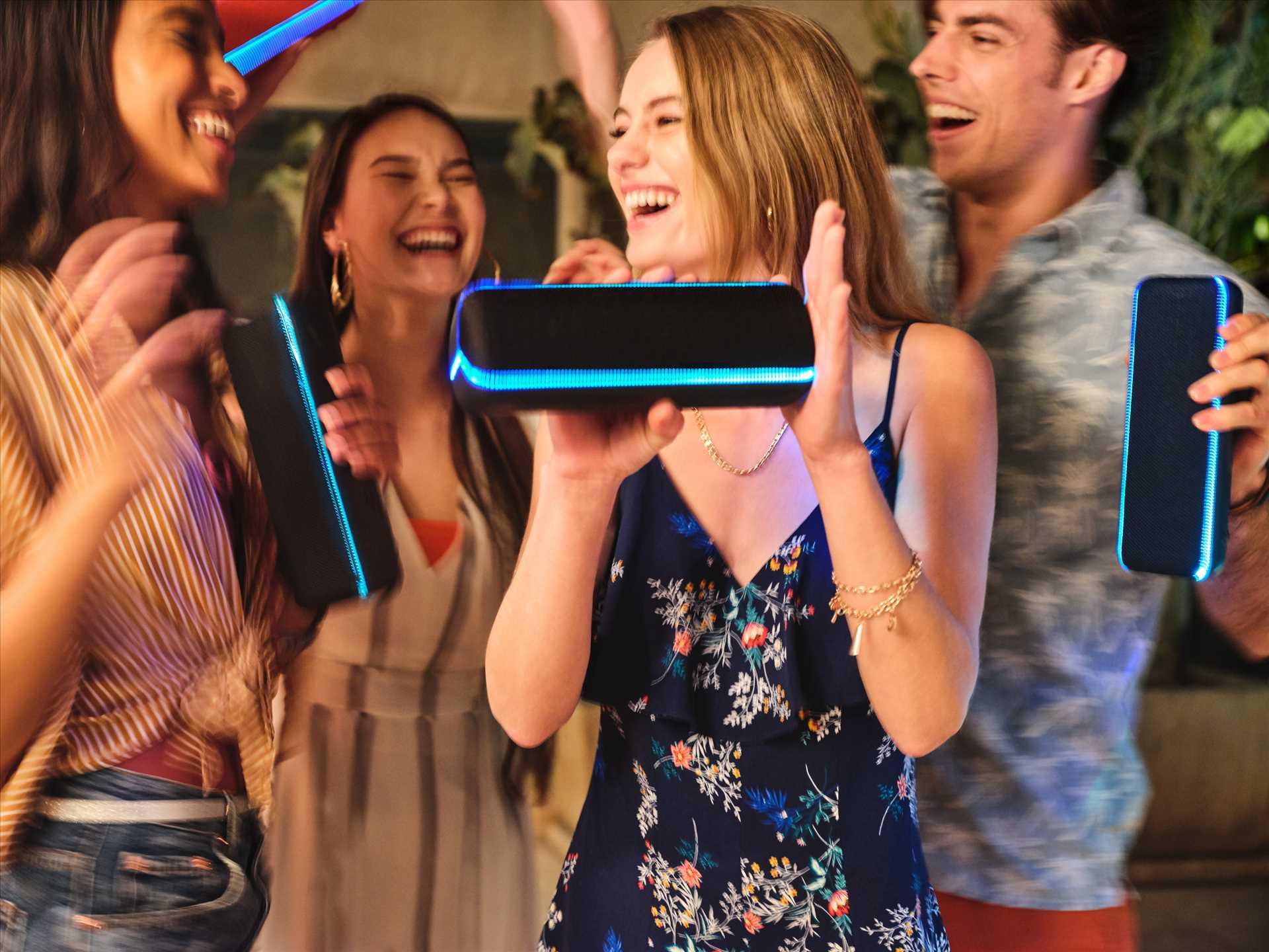 רמקול נייד שחור Sony SRS-XB32B סוני - תמונה 15