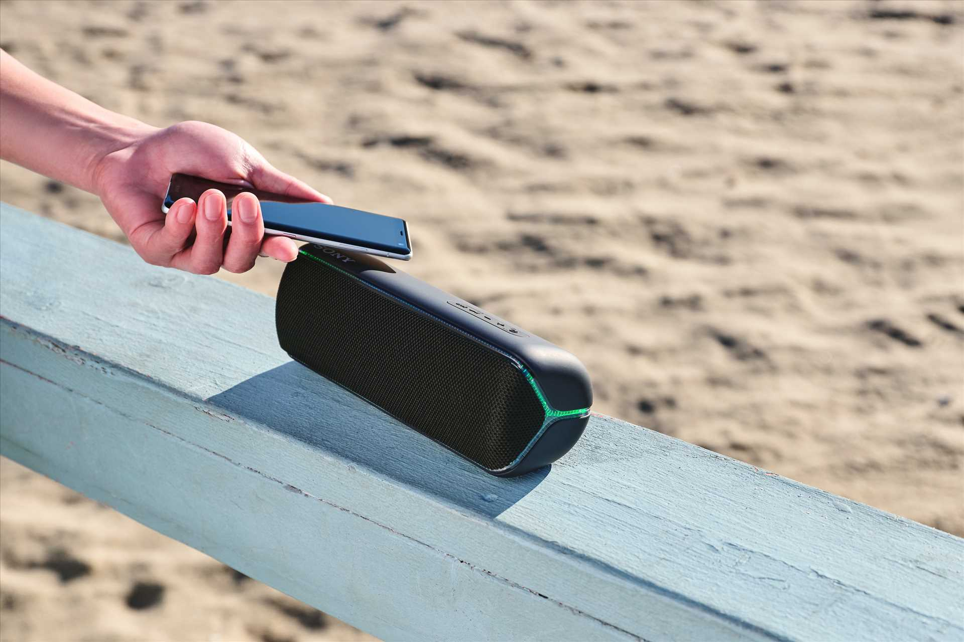 רמקול נייד אפור Sony SRS-XB32H סוני - תמונה 14