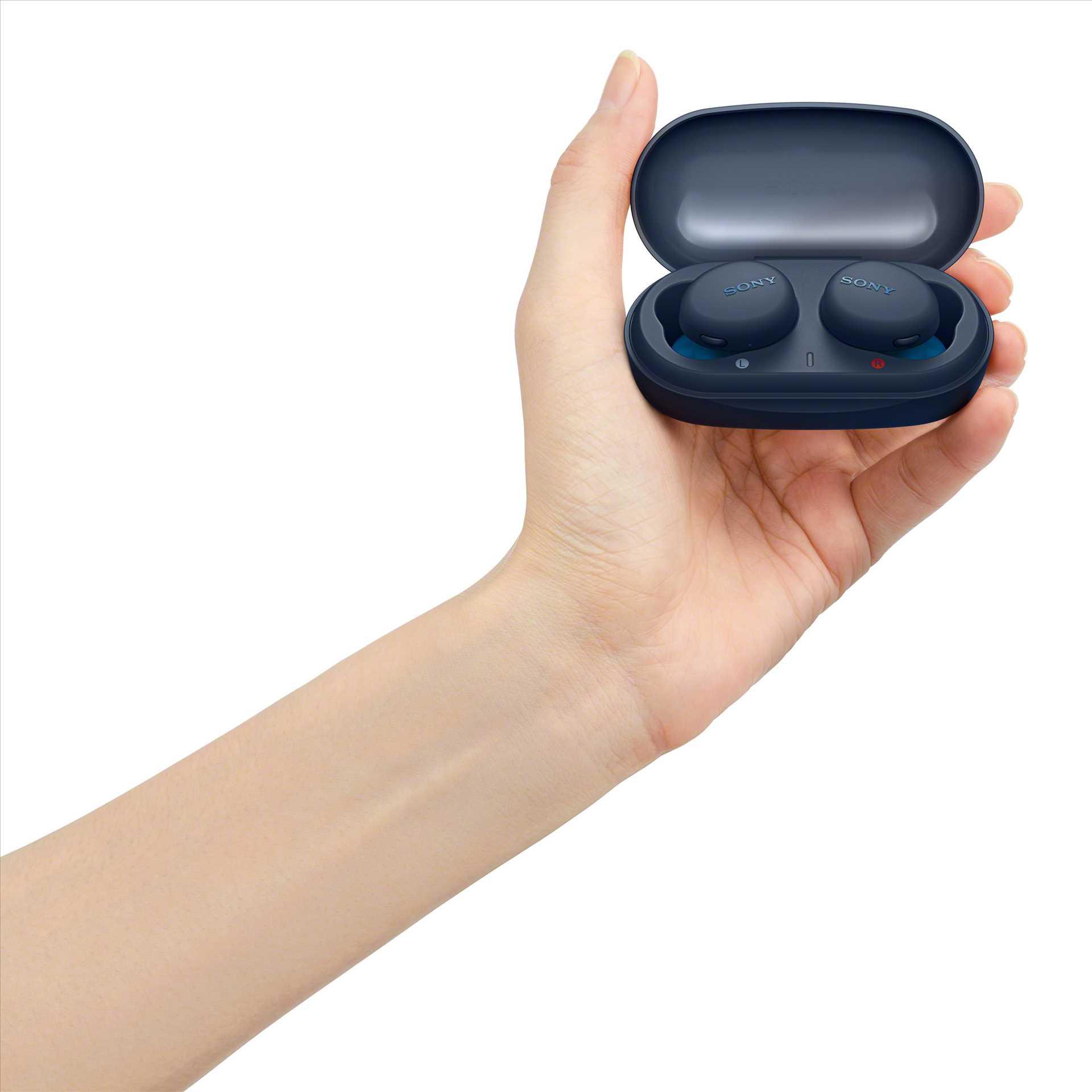 אוזניות Sony WF-XB700L True Wireless סוני כחולות - תמונה 6
