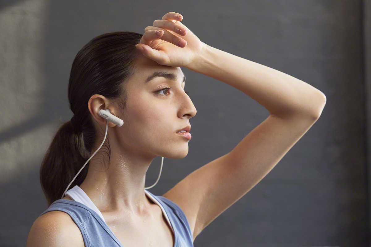 אוזניות Sony WI-SP500W Bluetooth סוני - תמונה 9