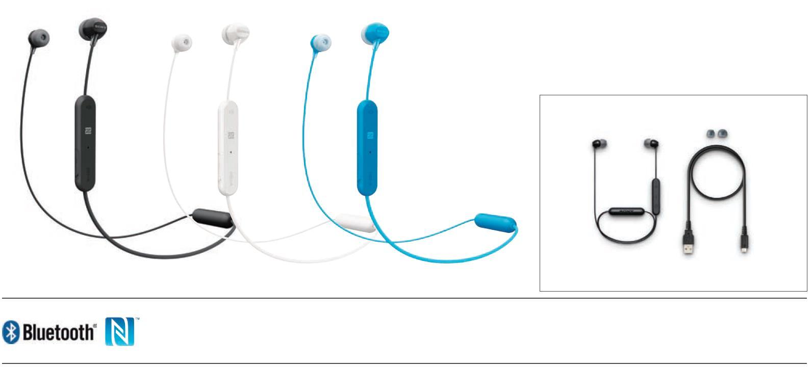 אוזניות Sony WI-C310B Bluetooth סוני - תמונה 8