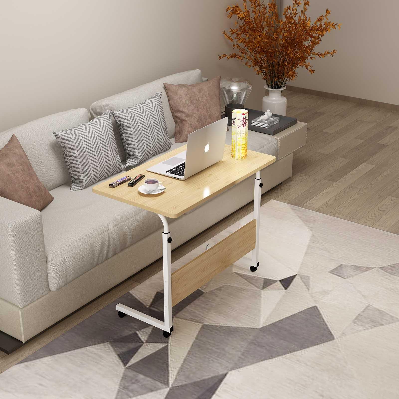 שולחן לפטופ דגם ALEX 80/40 צבע עץ טבעי - תמונה 3