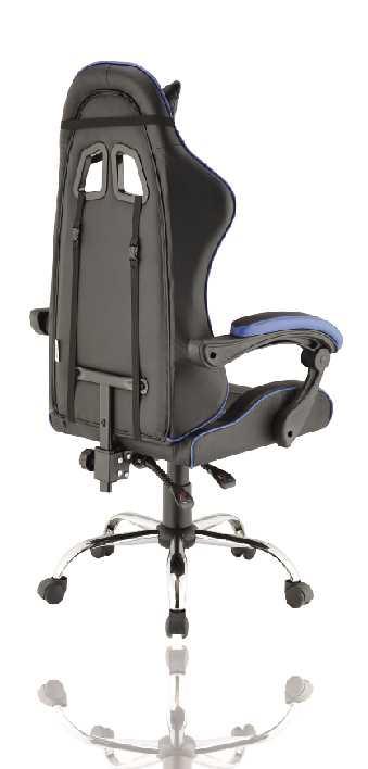 כסא גיימרים אורתופדי דגם PRO3 מבית NINJA EXTRIM שחור כחול - תמונה 3