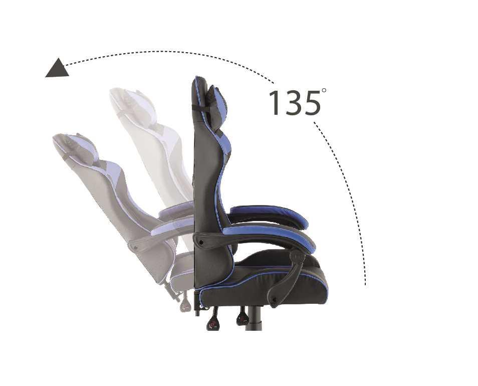 כסא גיימרים אורתופדי דגם PRO3 מבית NINJA EXTRIM שחור כחול - תמונה 5