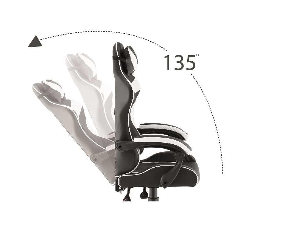 כסא גיימרים אורתופדי דגם PRO3-BW מבית NINJA EXTRIM - תמונה 3