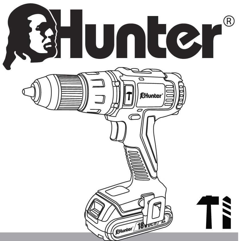 מברגה רוטטת קודחת ליתיום 1.5Ah 18V עם סוללה אחת 100311-007 Hunter האנטר - תמונה 5