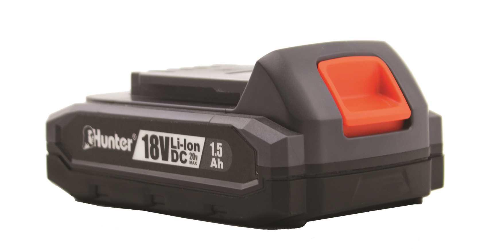 מברגה רוטטת קודחת ליתיום 1.5Ah 18V עם סוללה אחת 100311-007 Hunter האנטר - תמונה 3