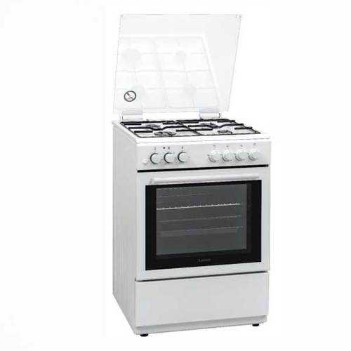 תנור לבן משולב כיריים Lenco LFS6065W לנקו