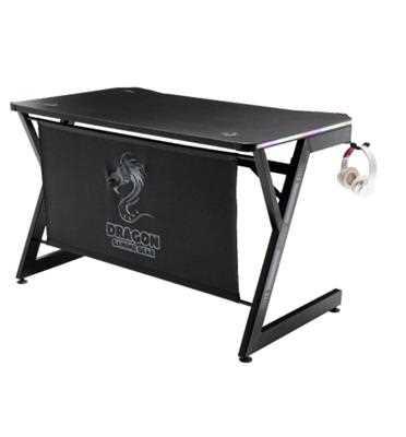 שולחן גיימינג מקצועי בעל תאורת LED דגם T7 RGB מבית DRAGON