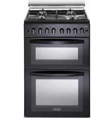 תנור משולב כיריים NDS1218N שחור Delonghi דה לונגי