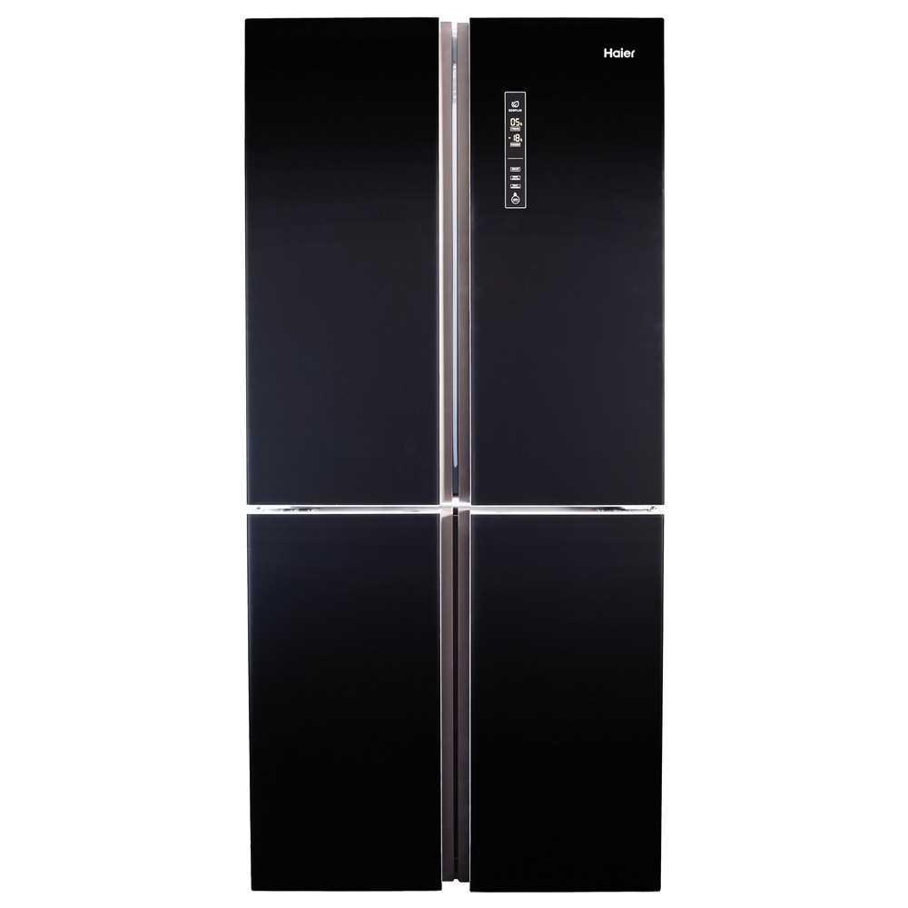 מקרר 4 דלתות 505 ליטר HRF4556FB זכוכית שחורה Haier האייר