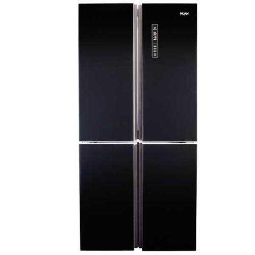 מקרר מפואר 4 דלתות זכוכית שחורה 611 ליטר Haier HRF4626FB האייר