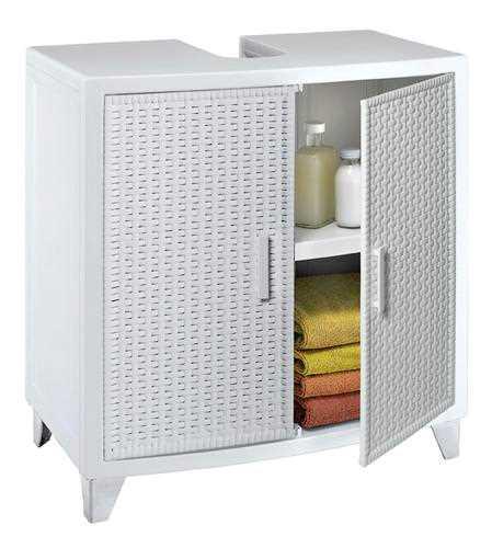 ארון אומגה ראטן לבן - ארון לחדרי אמבטיה Omega 189648