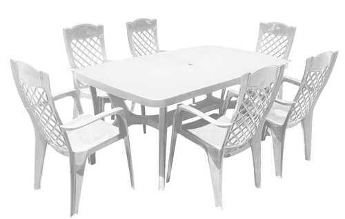 סט שולחן בולטימור ו-6 כסאות לירון Baltimore Liron Set לבן 251589